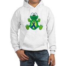 Blue Awareness Ribbon Goofkins Frog Jumper Hoody