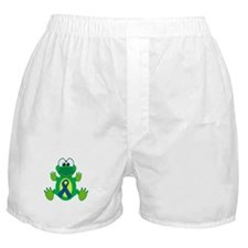 Blue Awareness Ribbon Goofkins Frog Boxer Shorts