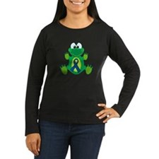 Blue Awareness Ribbon Goofkins Frog T-Shirt