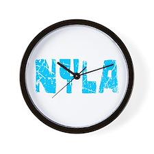 Nyla Faded (Blue) Wall Clock