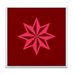 Pink Guiding Star Tile Coaster