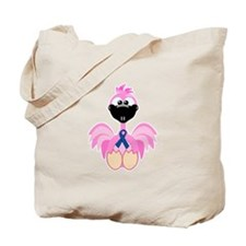 Blue Awareness Ribbon Goofkins Flamingos Tote Bag