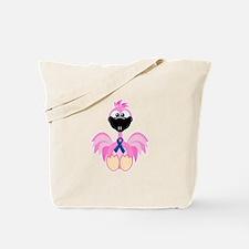 Blue Awareness Ribbon Goofkins Flamingos Tote Bag