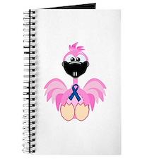 Blue Awareness Ribbon Goofkins Flamingos Journal