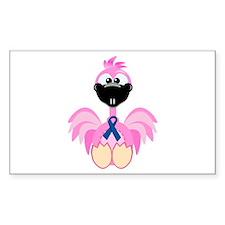 Blue Awareness Ribbon Goofkins Flamingos Decal