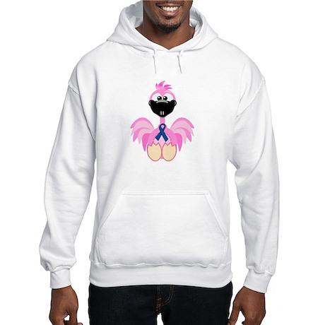 Blue Awareness Ribbon Goofkins Flamingos Hooded Sw