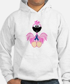 Blue Awareness Ribbon Goofkins Flamingos Jumper Hoody