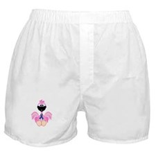 Blue Awareness Ribbon Goofkins Flamingos Boxer Sho