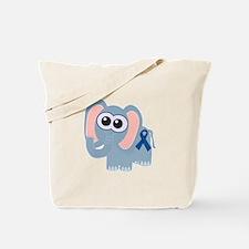 Blue Awareness Ribbon Goofkins Elephant Tote Bag
