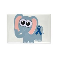 Blue Awareness Ribbon Goofkins Elephant Rectangle