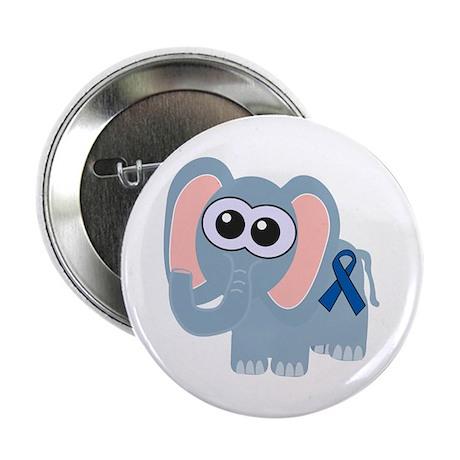 """Blue Awareness Ribbon Goofkins Elephant 2.25"""" Butt"""
