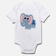 Blue Awareness Ribbon Goofkins Elephant Infant Bod