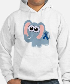 Blue Awareness Ribbon Goofkins Elephant Jumper Hoody