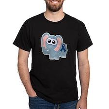 Blue Awareness Ribbon Goofkins Elephant T-Shirt