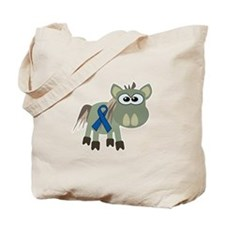 Blue Awareness Ribbon Goofkins Donkey Tote Bag