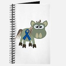 Blue Awareness Ribbon Goofkins Donkey Journal