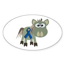 Blue Awareness Ribbon Goofkins Donkey Decal