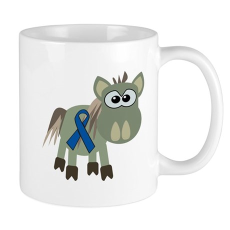 Blue Awareness Ribbon Goofkins Donkey Mug