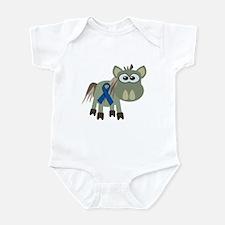 Blue Awareness Ribbon Goofkins Donkey Infant Bodys