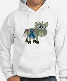 Blue Awareness Ribbon Goofkins Donkey Jumper Hoody