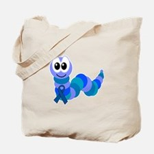 Blue Awareness Ribbon Goofkins Caterpillar Tote Ba