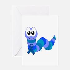 Blue Awareness Ribbon Goofkins Caterpillar Greetin