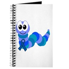 Blue Awareness Ribbon Goofkins Caterpillar Journal