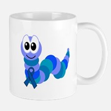 Blue Awareness Ribbon Goofkins Caterpillar Mug