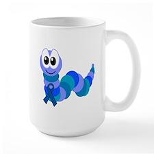 Blue Awareness Ribbon Goofkins Caterpillar Mug