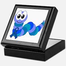Blue Awareness Ribbon Goofkins Caterpillar Keepsak