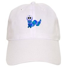 Blue Awareness Ribbon Goofkins Caterpillar Baseball Cap