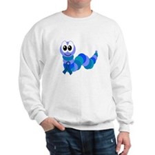 Blue Awareness Ribbon Goofkins Caterpillar Sweatsh