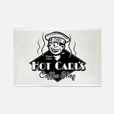 Hot Carl's Coffee Shop Rectangle Magnet