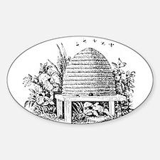 Masonic Beehive No. 2 Oval Decal