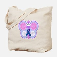 Blue Awareness Ribbon Goofkins Butterfly Tote Bag