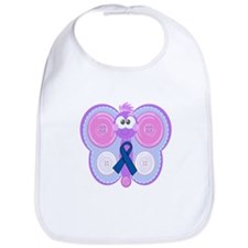 Blue Awareness Ribbon Goofkins Butterfly Bib