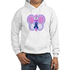 Blue Awareness Ribbon Goofkins Butterfly Jumper Hoody