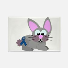 Blue Awareness Ribbon Goofkins Bunny Rabbit Rectan