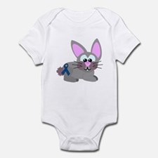 Blue Awareness Ribbon Goofkins Bunny Rabbit Infant