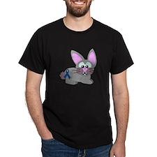 Blue Awareness Ribbon Goofkins Bunny Rabbit T-Shirt