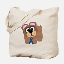 Blue Awareness Ribbon Goofkins Bear Tote Bag