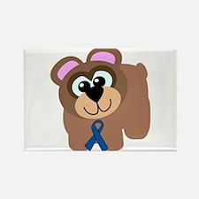 Blue Awareness Ribbon Goofkins Bear Rectangle Magn