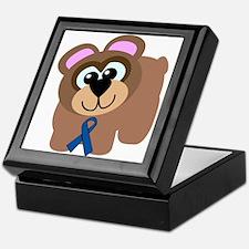 Blue Awareness Ribbon Goofkins Bear Keepsake Box