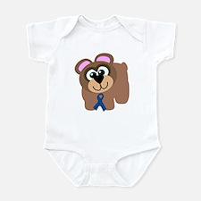 Blue Awareness Ribbon Goofkins Bear Infant Bodysui