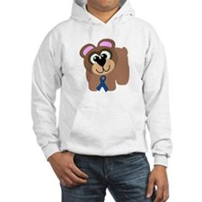 Blue Awareness Ribbon Goofkins Bear Jumper Hoody