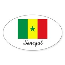 Senegal Flag Oval Decal