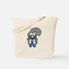 Blue Awareness Ribbon Goofkins Squirrel Tote Bag