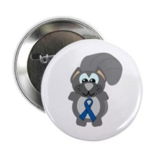 "Blue Awareness Ribbon Goofkins Squirrel 2.25"" Butt"