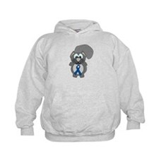 Blue Awareness Ribbon Goofkins Squirrel Hoody