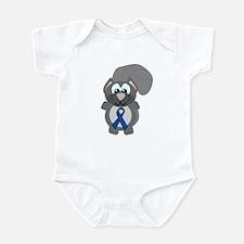 Blue Awareness Ribbon Goofkins Squirrel Infant Bod